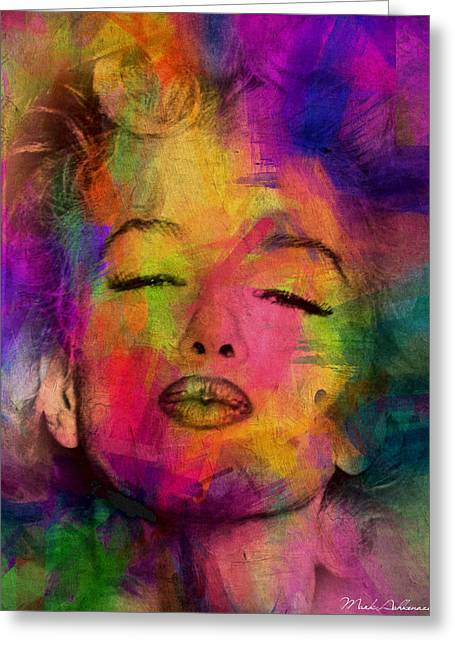 70s Greeting Cards - Marilyn Monroe Greeting Card by Mark Ashkenazi