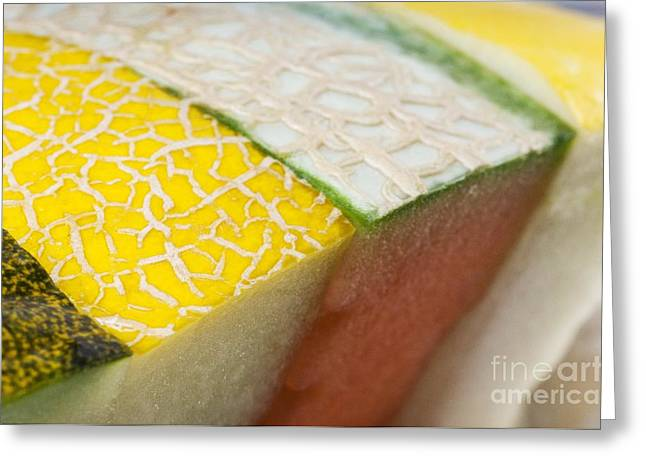 Melon Greeting Cards - Melon Slices Greeting Card by Angel Fitor