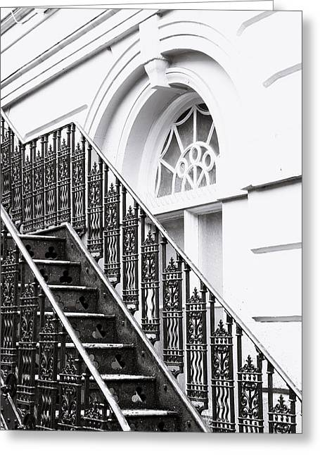 High Park Fire Greeting Cards - Metal stairs Greeting Card by Tom Gowanlock