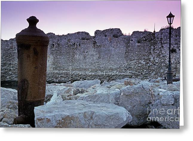 Fortress Greeting Cards - Methoni castle Greeting Card by George Atsametakis