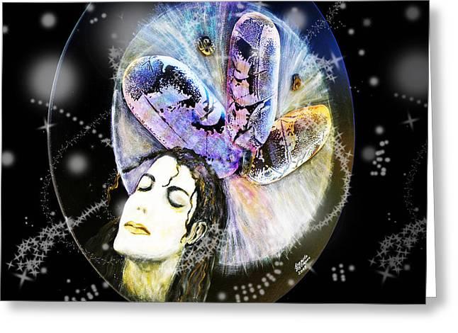 Michael Jackson Greeting Cards - Michael Jackson Greeting Card by Augusta Stylianou