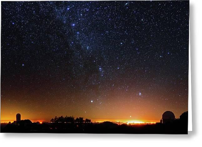 Milky Way Over Kitt Peak Observatory Greeting Card by Babak Tafreshi