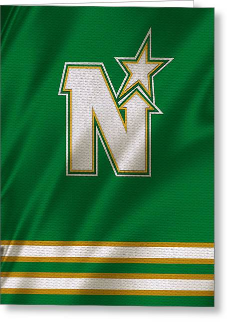 Skates Greeting Cards - Minnesota North Stars Greeting Card by Joe Hamilton