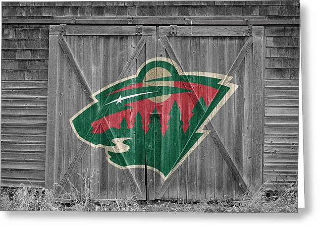 Skates Greeting Cards - Minnesota Wild Greeting Card by Joe Hamilton