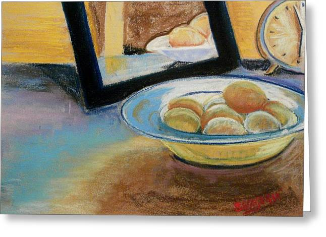 Bowl Pastels Greeting Cards - 5 Minutes Till 6 Greeting Card by Tim  Swagerle