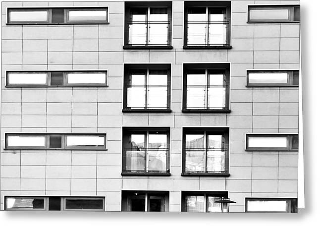 Ledge Greeting Cards - Modern apartments Greeting Card by Tom Gowanlock