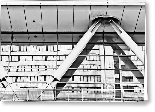 Metalwork Greeting Cards - Modern architecture Greeting Card by Tom Gowanlock