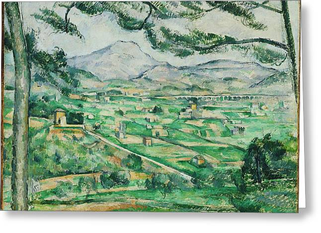Commune Greeting Cards - Mont Sainte-Victoire Greeting Card by Paul Cezanne