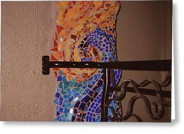 Mosaic Doorway Greeting Card by Charles Lucas
