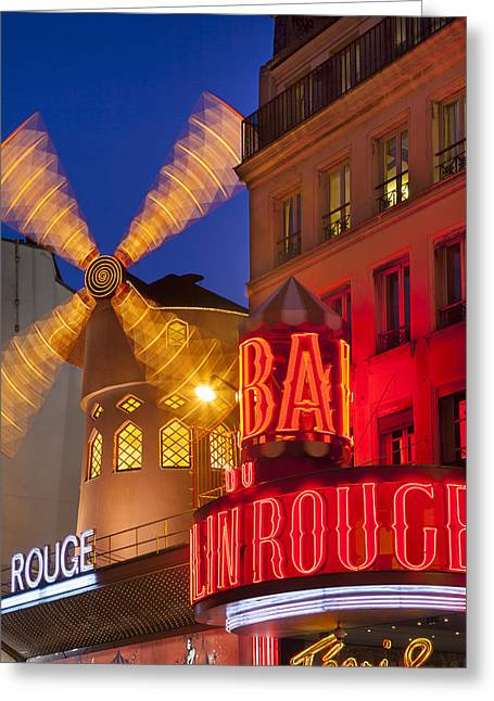 Moulin Rouge Greeting Card by Brian Jannsen