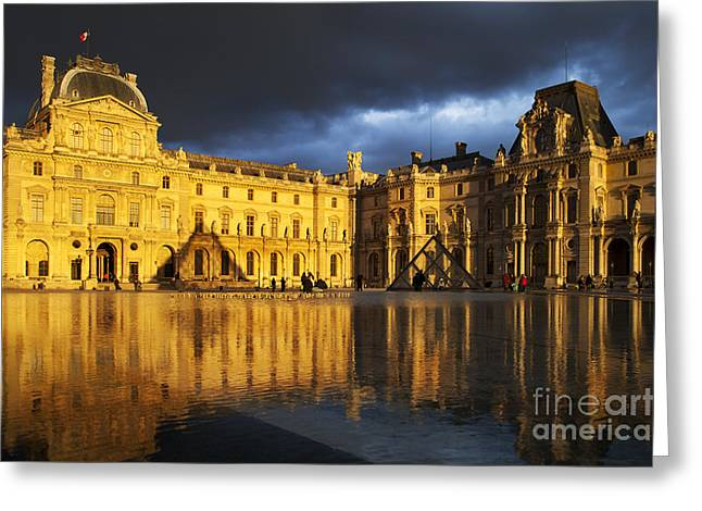 Musee du Louvre Greeting Card by Brian Jannsen