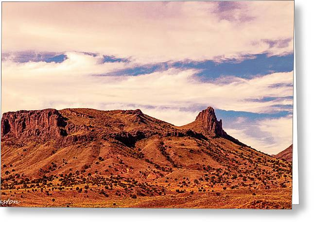 Desertview Greeting Cards - Navajo Nation Series along 87 and 15 Greeting Card by  Bob and Nadine Johnston