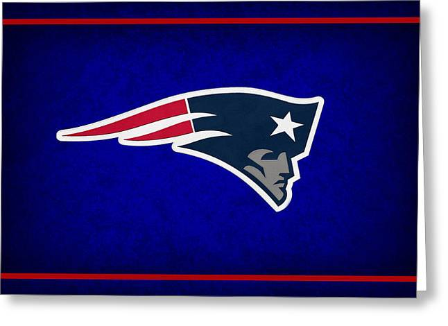 Shoes Greeting Cards - New England Patriots Greeting Card by Joe Hamilton