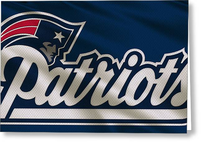 New England Patriots Greeting Cards - New England Patriots Uniform Greeting Card by Joe Hamilton