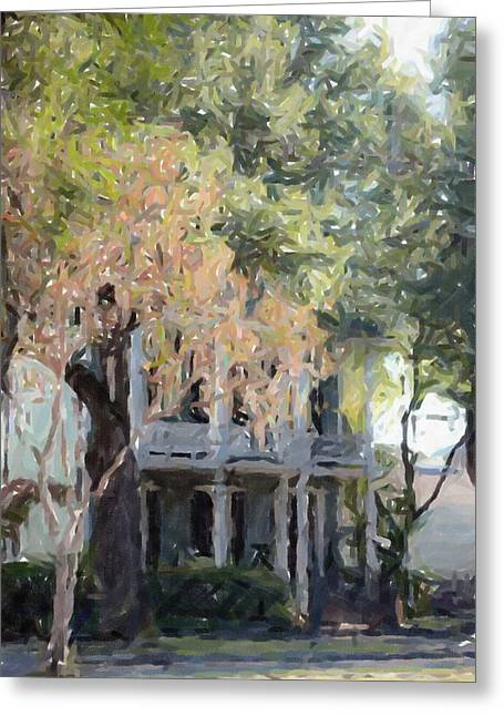 Louisiana Pastels Greeting Cards - New Orleans Garden District Louisiana Artwork Greeting Card by Olde Time  Mercantile
