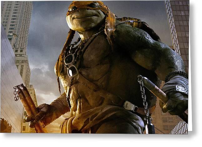 Michelangelo Greeting Cards - Ninja turtles Michelangelo Greeting Card by Victor Gladkiy