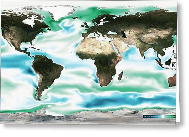 Ocean-atmosphere Co2 Exchange Greeting Card by Noaa
