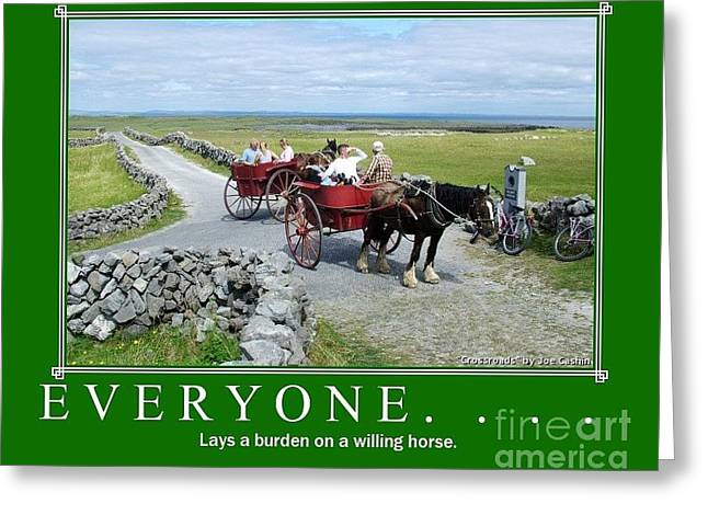 Old Irish Saying's Greeting Card by Joe Cashin