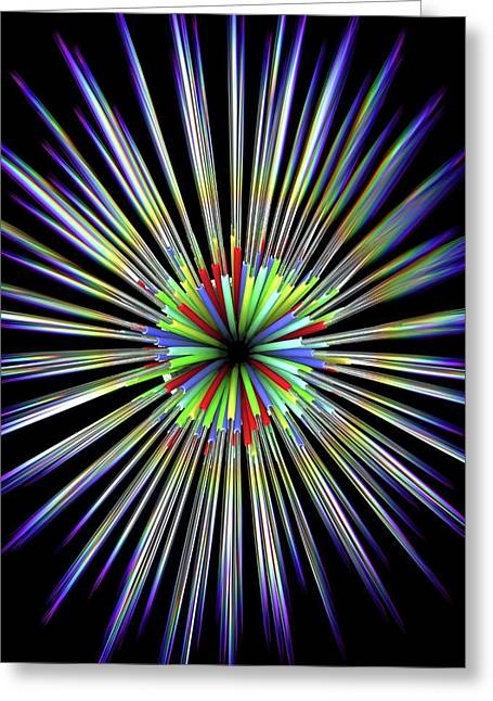 Optical Fibre Cable Greeting Card by Alfred Pasieka