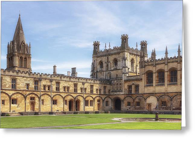 The Houses Photographs Greeting Cards - Oxford Greeting Card by Joana Kruse