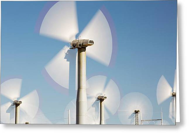 Part Of The Tehachapi Pass Wind Farm Greeting Card by Ashley Cooper