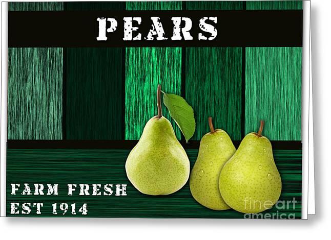 Pear Greeting Cards - Pear Farm Greeting Card by Marvin Blaine