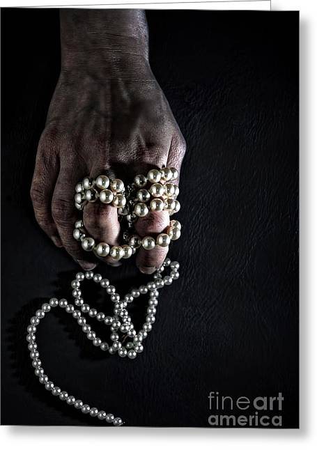 Despair Photographs Greeting Cards - Pearls Greeting Card by HD Connelly