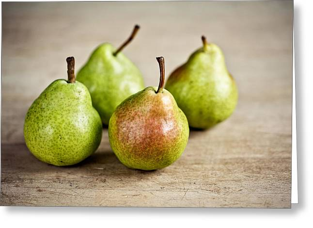 Pears Greeting Cards - Pears Greeting Card by Nailia Schwarz