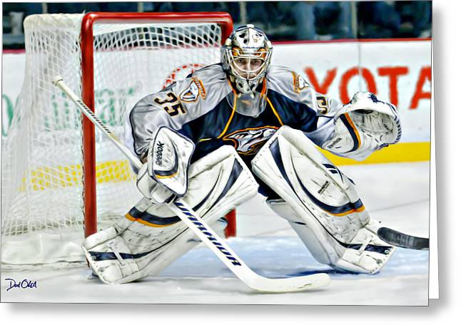 Reebok Greeting Cards - Pekka Rinne Greeting Card by Don Olea