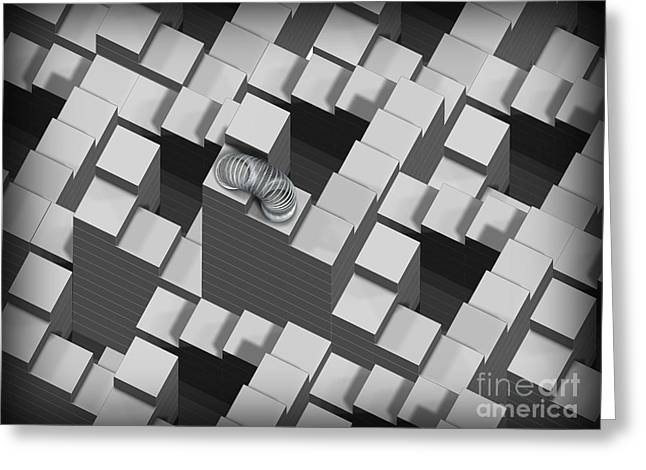 Ambiguity Greeting Cards - Penrose Stairs, Artwork Greeting Card by Claus Lunau