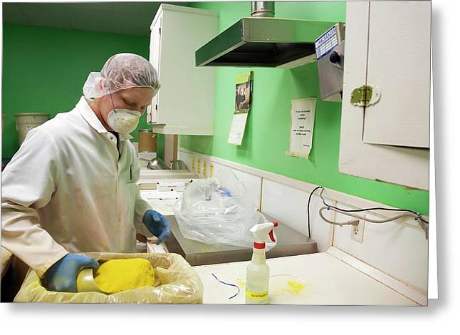Pharmaceutical Manufacturing Greeting Card by Jim West