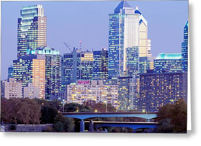 Corporate Business Greeting Cards - Philadelphia Pennsylvania Usa Greeting Card by Panoramic Images