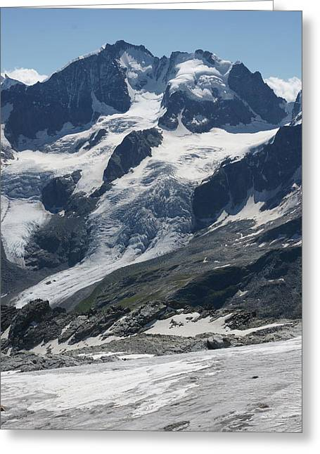 Graubunden Greeting Cards - Piz Corvatsch Greeting Card by Christian Zesewitz