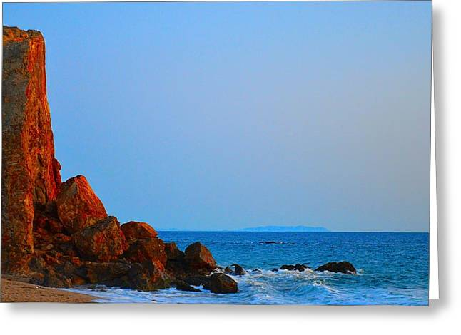 Mystical Landscape Greeting Cards - Point Dume Greeting Card by Tommi Trudeau