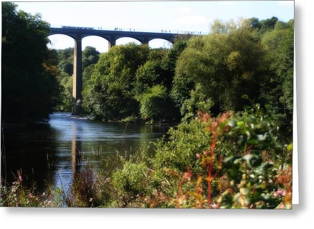 Welsh Waterways Greeting Cards - Pontcysyllte Aqueduct Greeting Card by Michael Braham