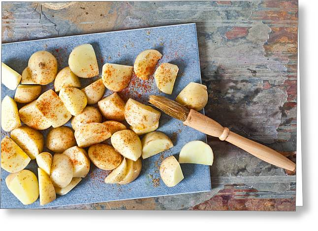 Paprika Greeting Cards - Potatoes Greeting Card by Tom Gowanlock