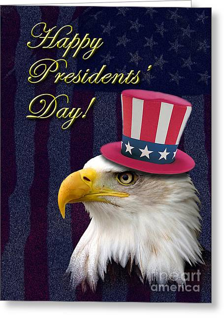 Wildlife Celebration Greeting Cards - Presidents Day Eagle Greeting Card by Jeanette K