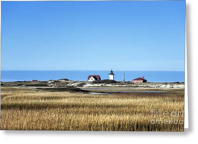 Salt Marsh. New England Greeting Cards - Race Point lighthouse Greeting Card by John Greim