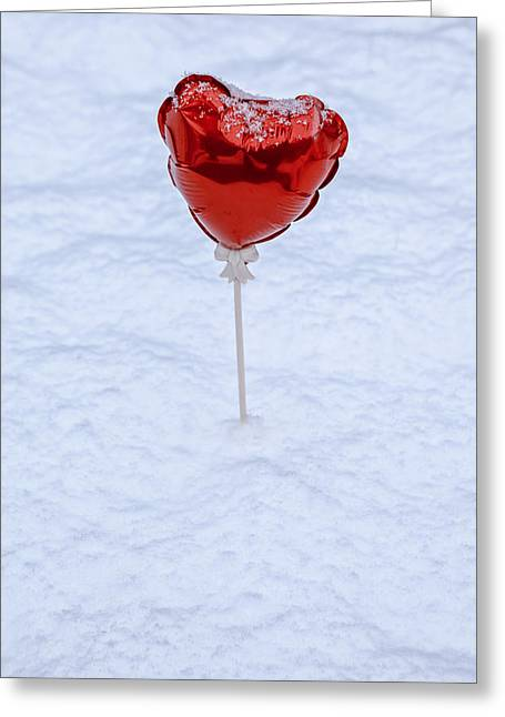 Caress Greeting Cards - Red Balloon Greeting Card by Joana Kruse