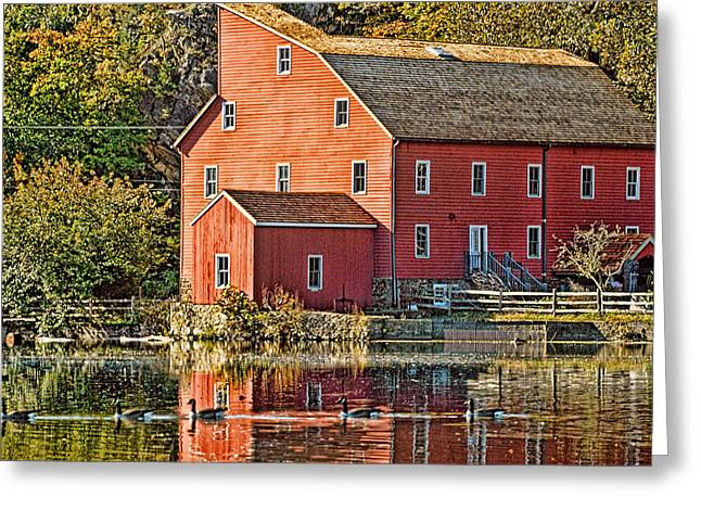 Most Favorite Digital Greeting Cards - Red Mill Clinton New Jersey Greeting Card by Geraldine Scull