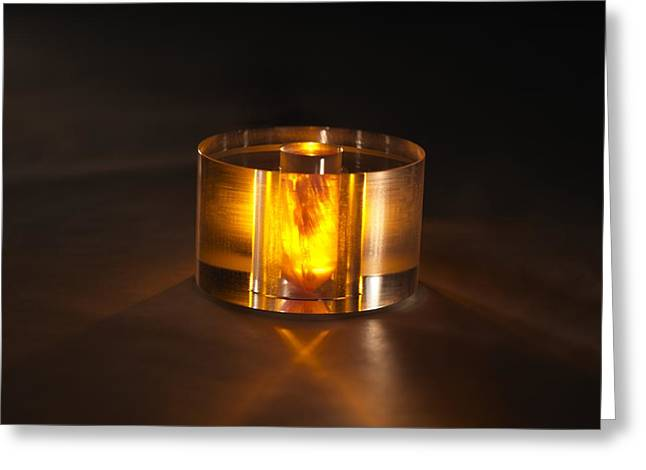 Energize Photographs Greeting Cards - Room-temperature solid-state maser core Greeting Card by Science Photo Library