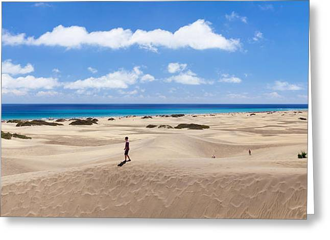 Sand Dunes In A Desert, Maspalomas Greeting Card by Panoramic Images