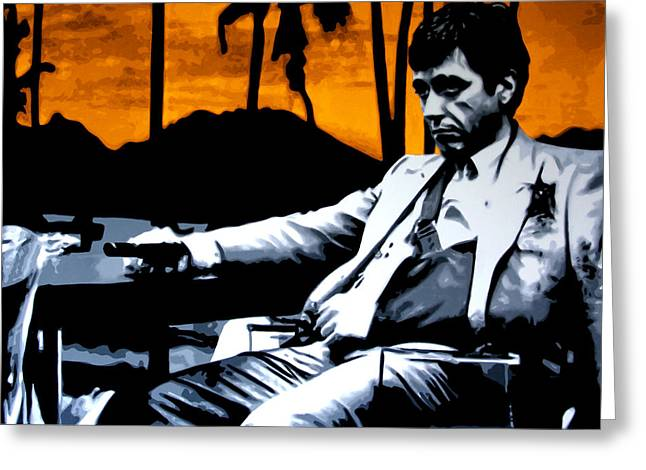 Frank Howard Greeting Cards - Scarface Greeting Card by Luis Ludzska