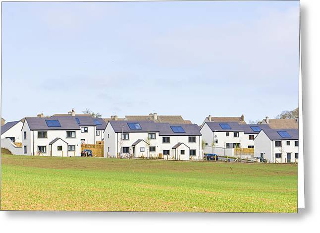 Suburbia Greeting Cards - Scottish houses Greeting Card by Tom Gowanlock