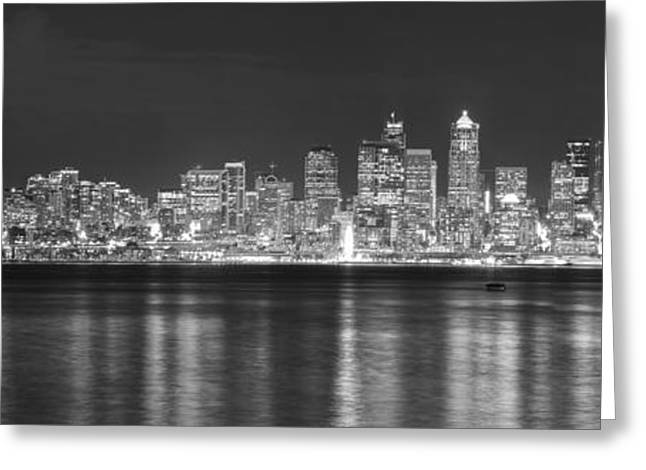 Seattle Photographs Greeting Cards - Seattle Skyline Greeting Card by Twenty Two North Photography