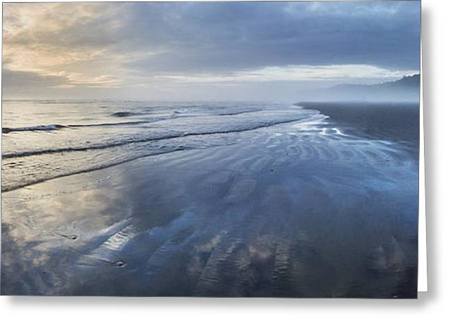 Ocean Art Photography Greeting Cards - Second Beach Greeting Card by Twenty Two North Photography