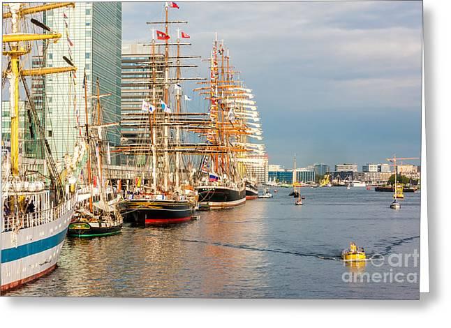 Masts Greeting Cards - Sedov EX. Kommodore Johnsen Four-masted barque Greeting Card by Maslyaev Yury