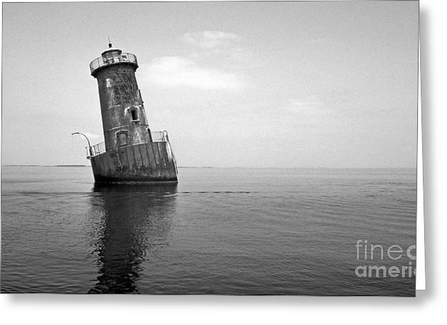 Sharps Island Lighthouse Greeting Card by Skip Willits