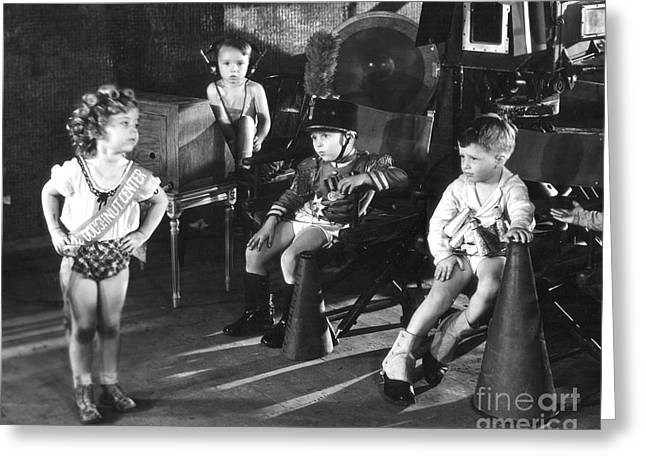 Child Greeting Cards - Shirley Temple and Gang Greeting Card by MMG Archives