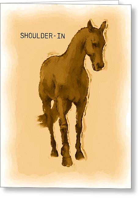 Second Movement Greeting Cards - Shoulder-in Greeting Card by JAMART Photography